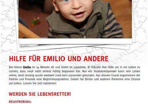 Emilio helfen - Typisierungsaktion der DKMS in Dresden