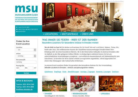 Launch Website für die msu Museumsladen GmbH