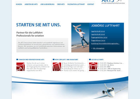 Relaunch Website ARTS Deutschland GmbH