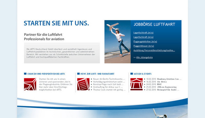 Relaunch Website ARTS Deutschland GmbH