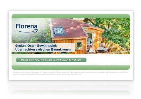 Florena Facebook App - Weiterleitung