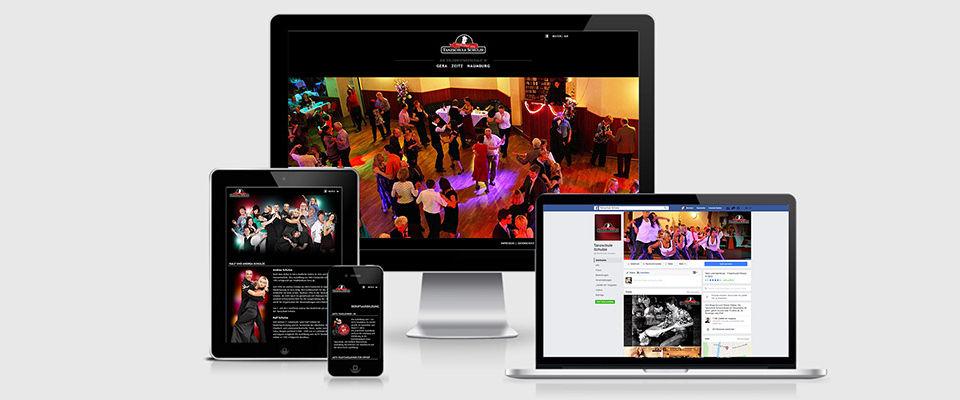Webseite der Tanzschule Schulze