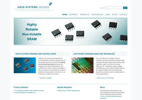 Startseite der Website der Anvo-Systems Dresden GmbH