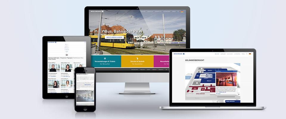 Neue Website Messe Dresden
