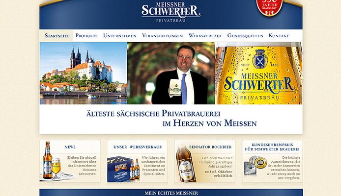 Website Privatbrauerei Meißner Schwerter