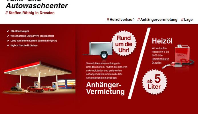Microsite für das Tank- und Auto-Waschcenter Steffen Röthig