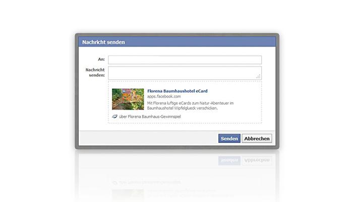 Florena Facebook App - Nachrichtenfenster