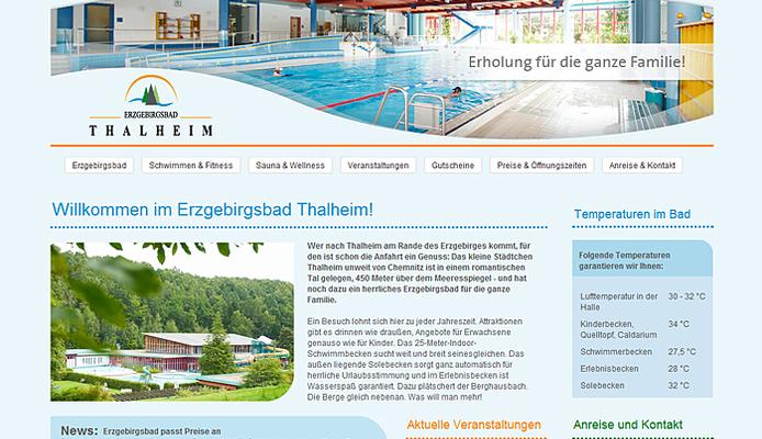 Website Erzgebirgsbad Thalheim
