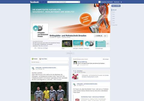 Facebook Fanpage der Orthopädie- und Rehatechnik Dresden