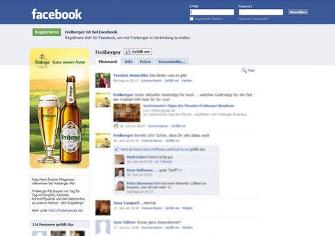 Facebook-Fanpage für Freiberger Brauhaus GmbH