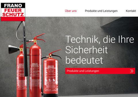 Website und Webdesign Frano Feuerschutz