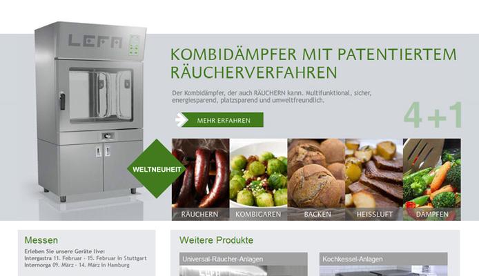 Relaunch der Website für die LEFA GmbH
