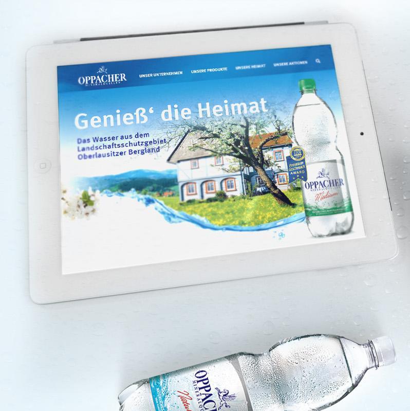 Mobile Webseite Oppacher Mineralquellen