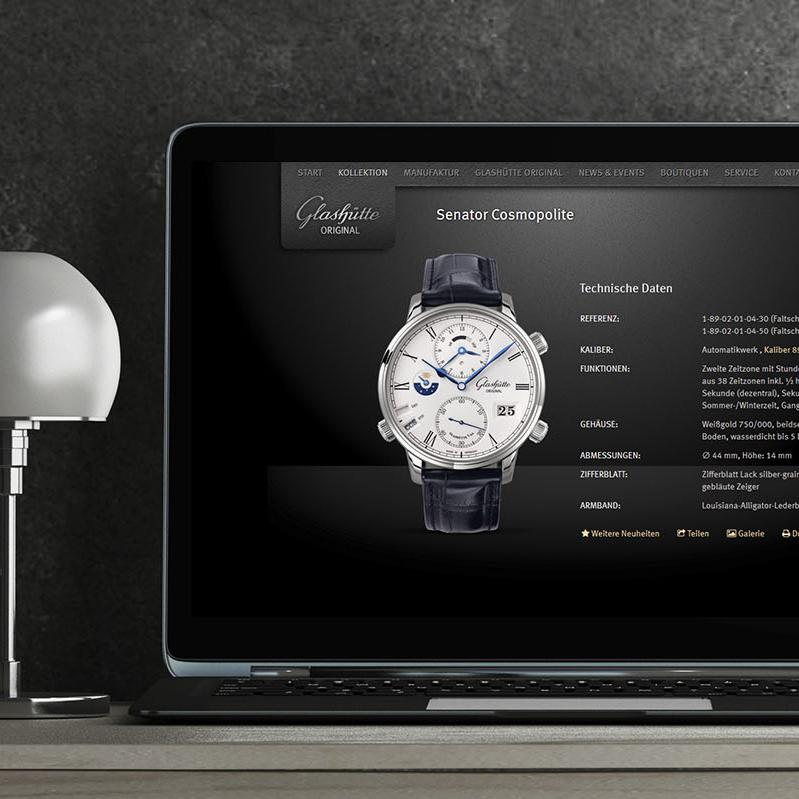 Responsive Website Glashütte Original