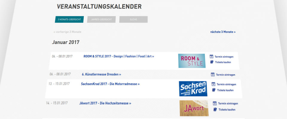 Veranstaltungskalender Messe Dresden