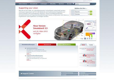 Startseite der deutschsprachigen Website von ITI