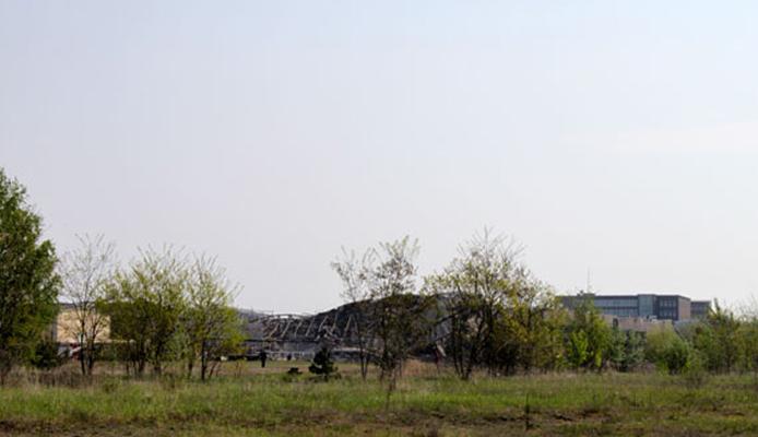 Knall des Jahres - Erfolgreiche Sprengung des Kraftwerkes II in Lübbenau am 09.05.2010