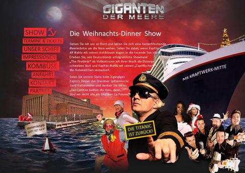 """Internetpräsentation für """"Giganten der Meere""""-Weihnachtsshow"""
