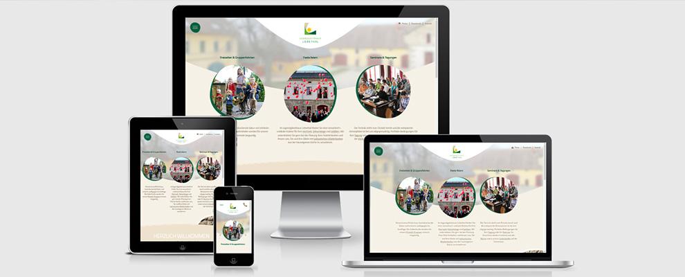 Responsive Webdesign Jugendgästehaus Liebethal