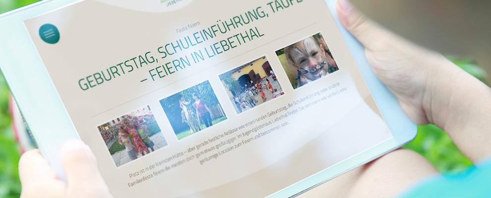 Website Jugendgästehaus Liebethal