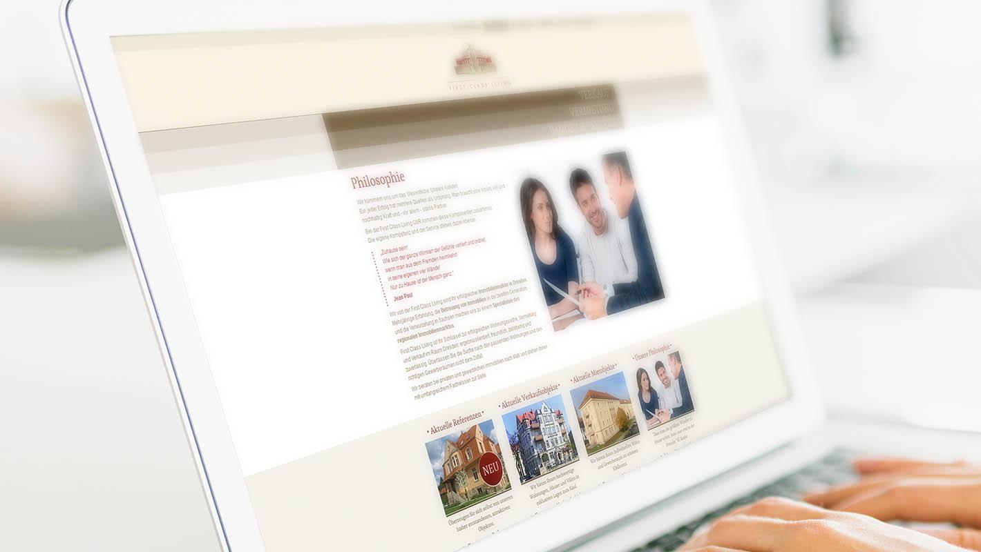 First Class Living website philosophie