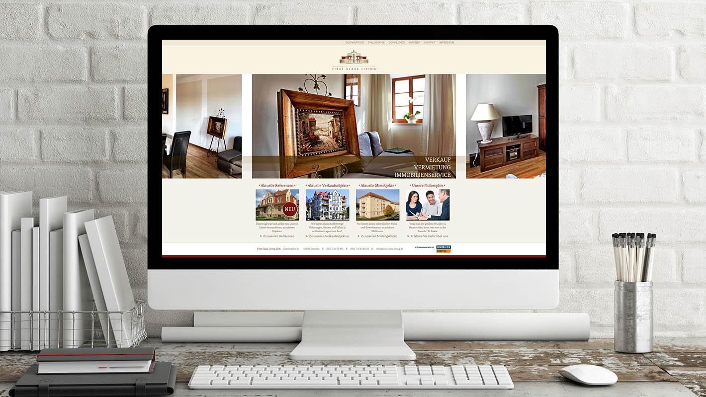 First Class Living startseite website