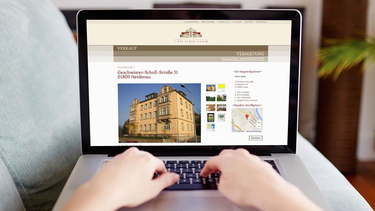 First Class Living website verkauf