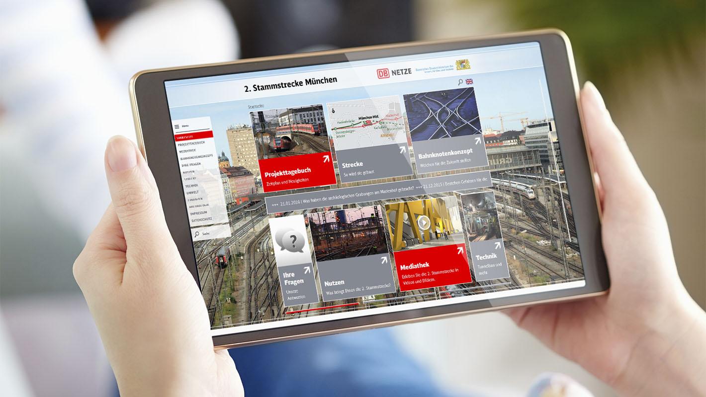 Responsive Webdesign 2. Stammstrecke Deutsche Bahn
