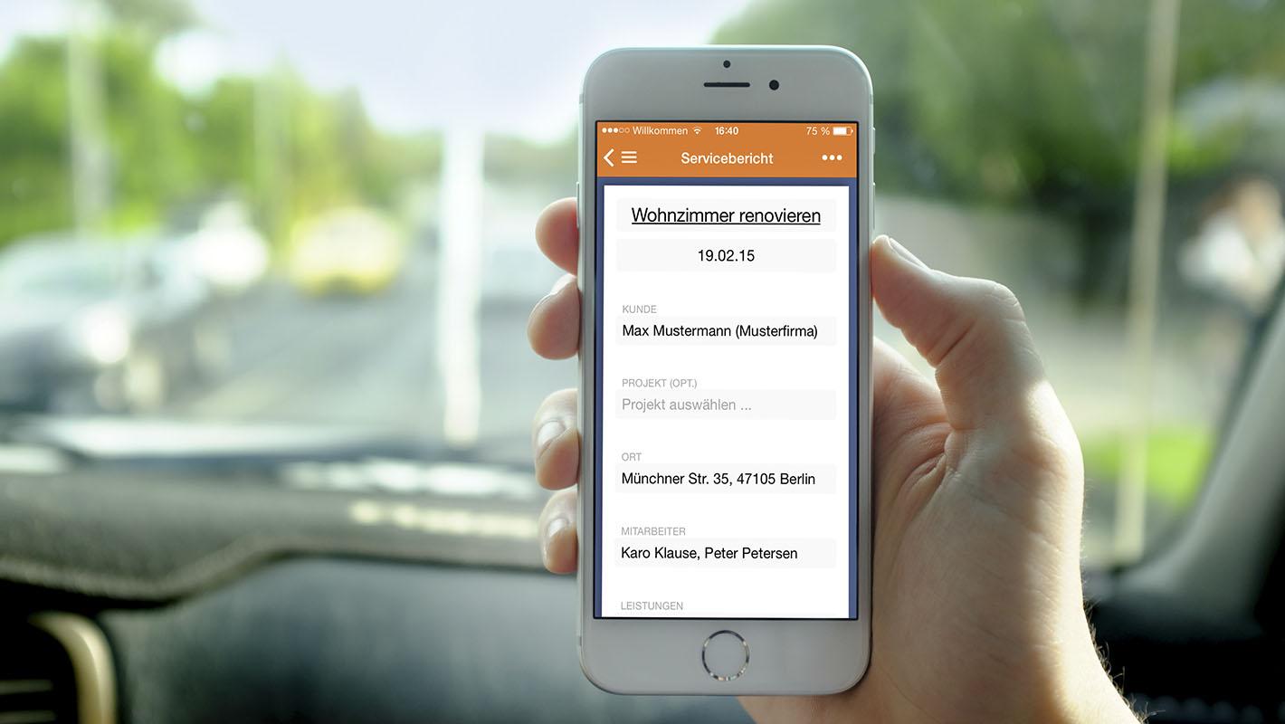 App Phone Addigo Service Report