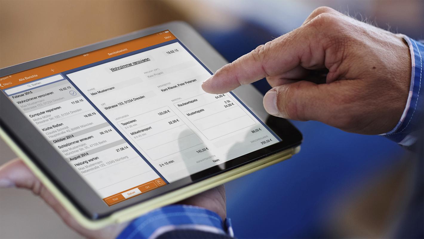 App Tablet Addigo Service Report