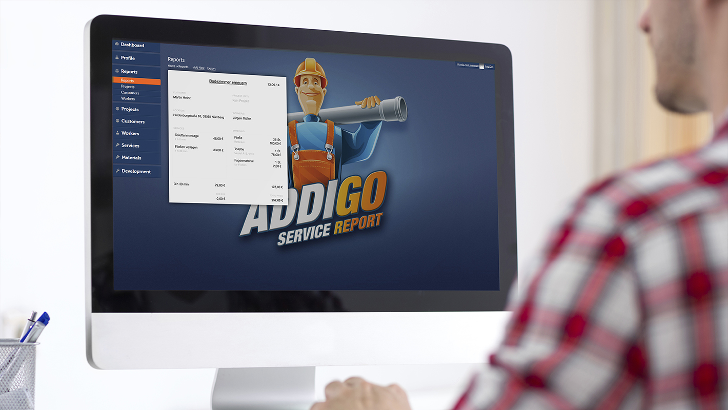 Backend Addigo Service Report App
