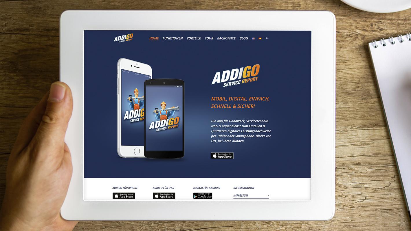 Website Addigo Service Report App