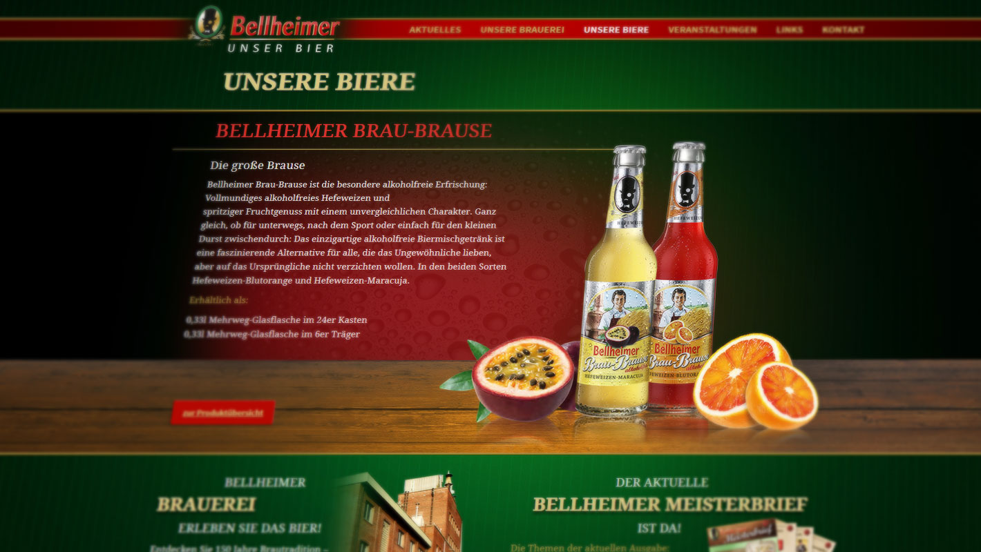 Produkt-Website Bellheimer