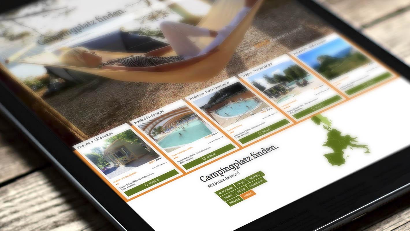 Responsive Webdesign Camping Campoola