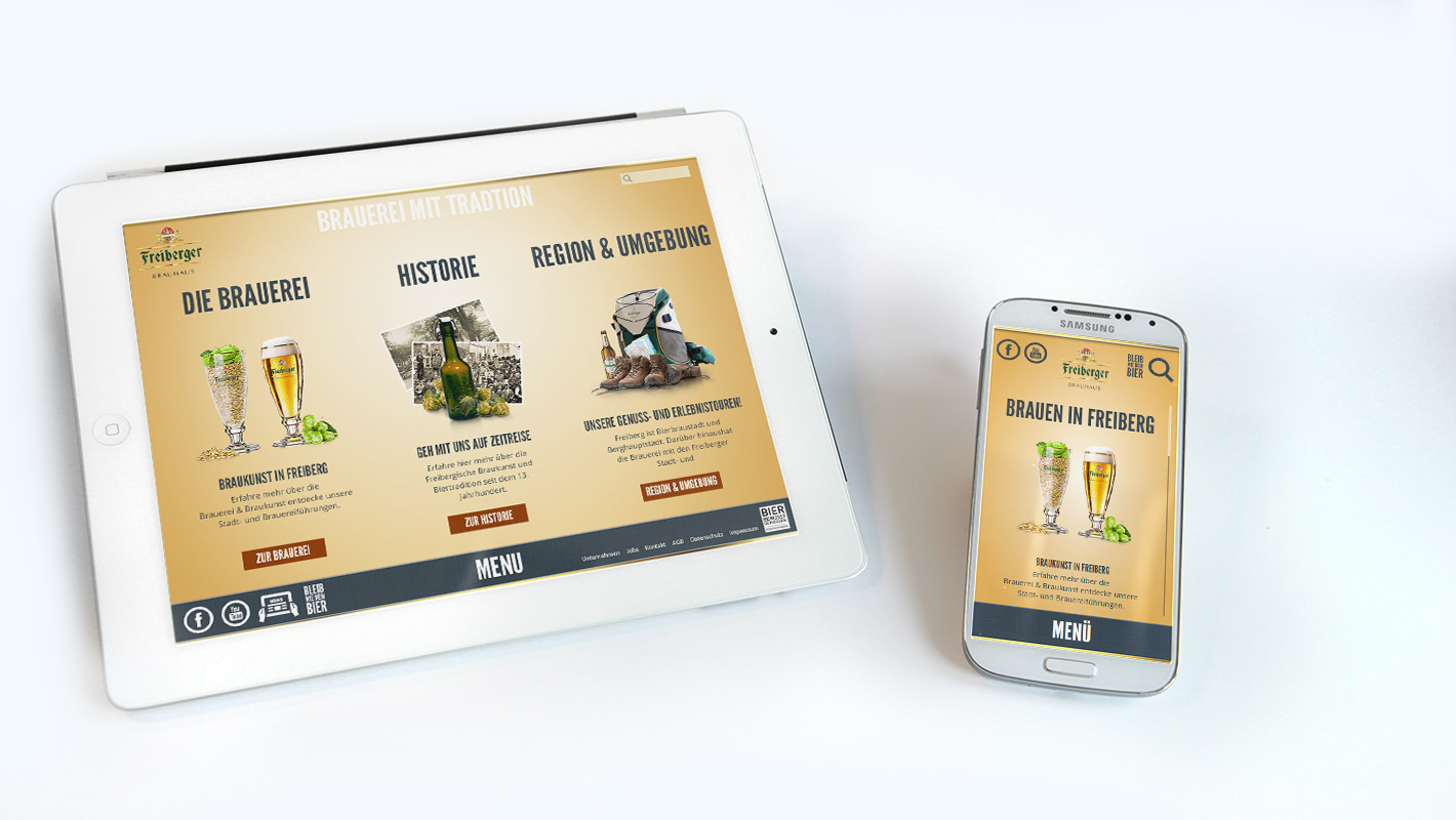 Mobile Website Freiberger Brauhaus