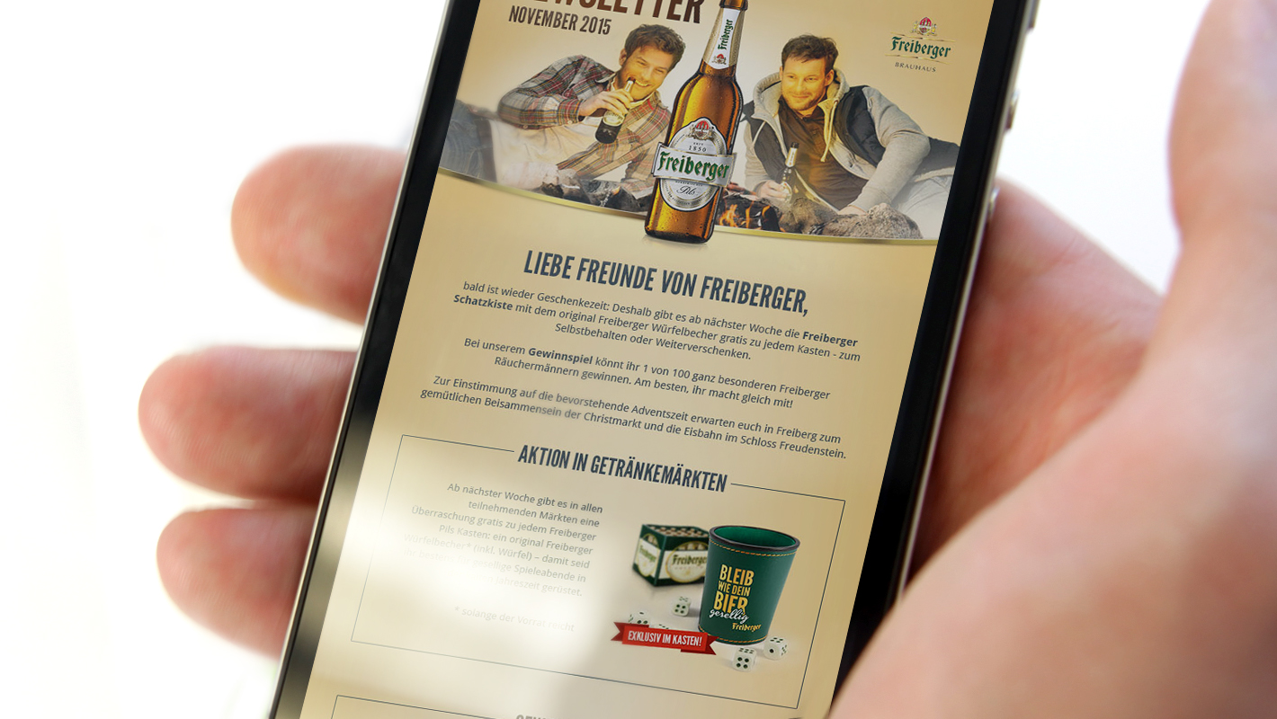 Mobile Website Smartphone Freiberger Brauhaus