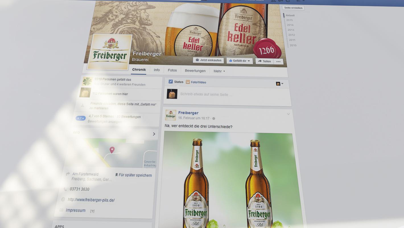 Facebook-Betreuung Freiberger Brauhaus
