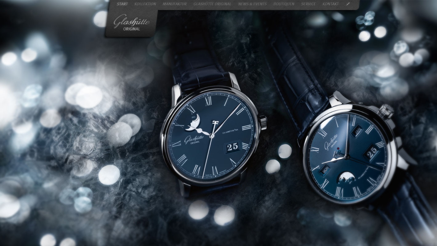 Luxusuhr Website Glashütte Original