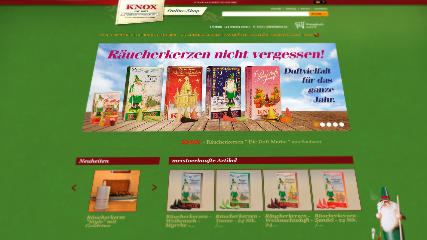 Online-Shop eCommerce Knox