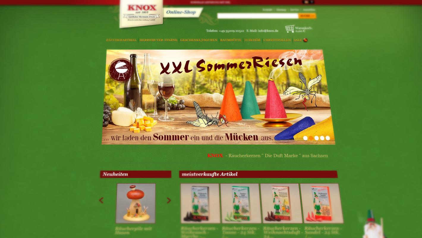 Webshop Knox