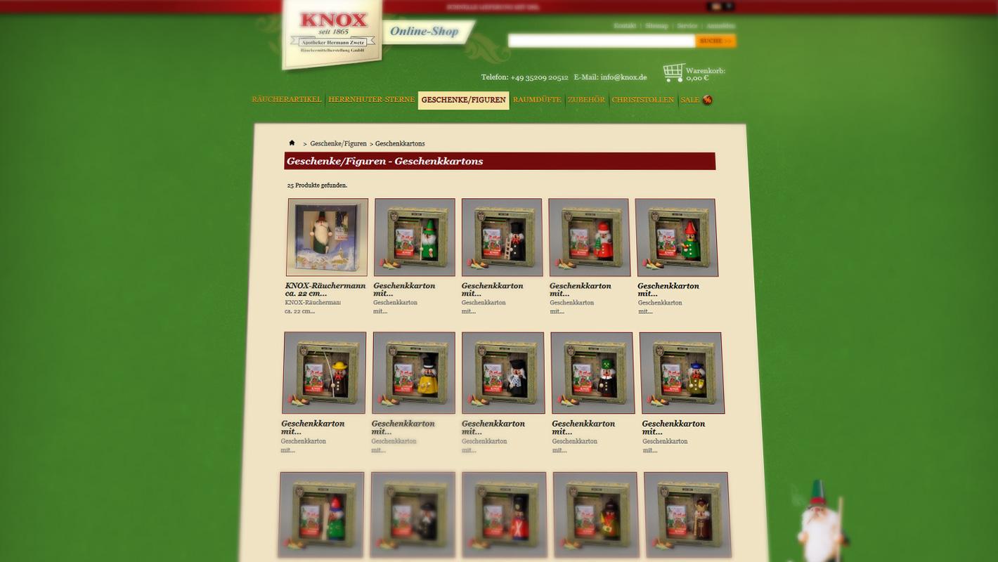 Onlineshop e-Commerce Knox