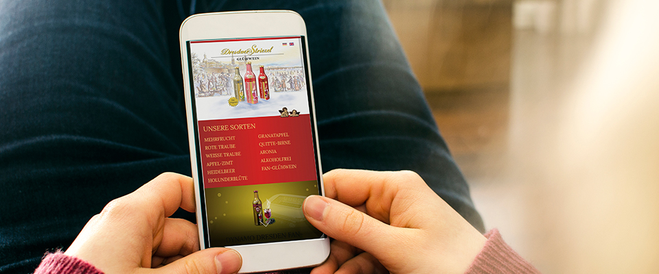Dresdner Striezel Gluehwein Responsive Webdesign