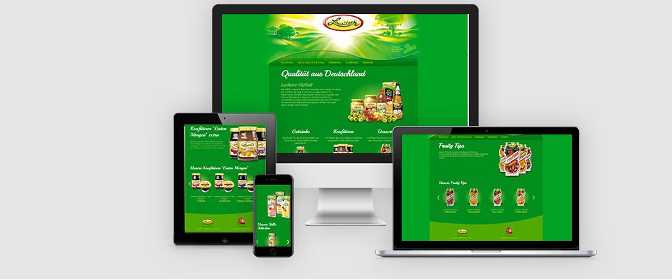 Lausitzer Früchte Responsive Webdesign