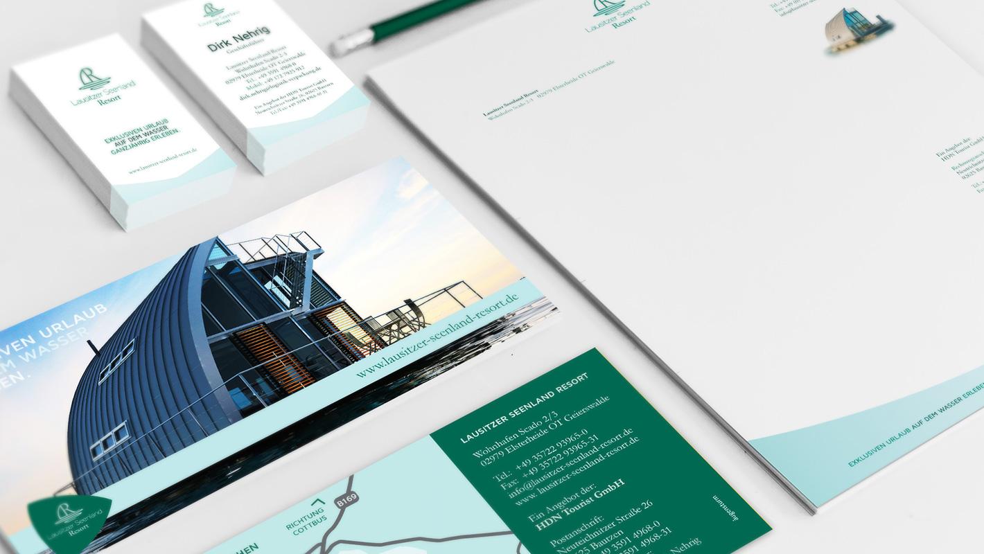 Geschäftsausstattung Print Lausitzer Seenland Resort