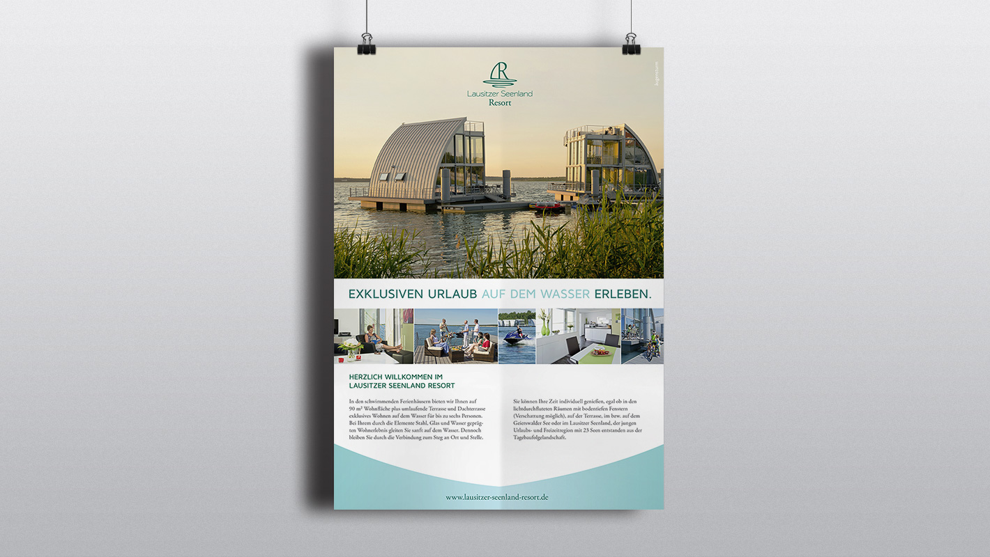Plakat Print Lausitzer Seenland Resort
