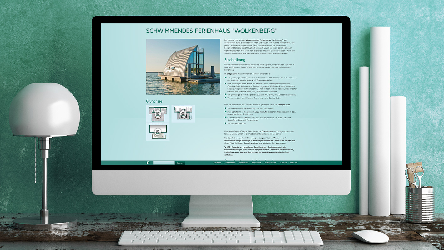 Produkt-Website Lausitzer Seenland Resort