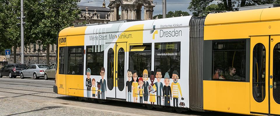 Straßenbahn Städtische Klinikum Dresden