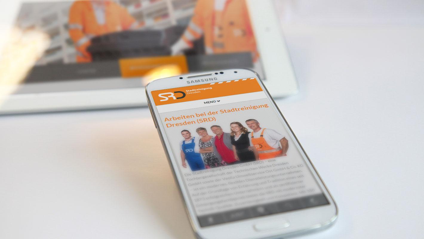 Mobile Website Stadtreinigung Dresden