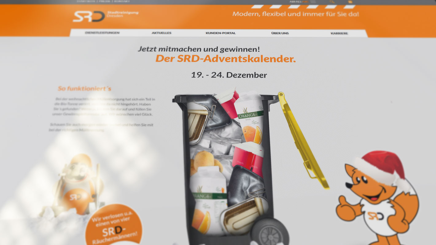 Gewinnspiel Responsive Website Stadtreinigung Dresden
