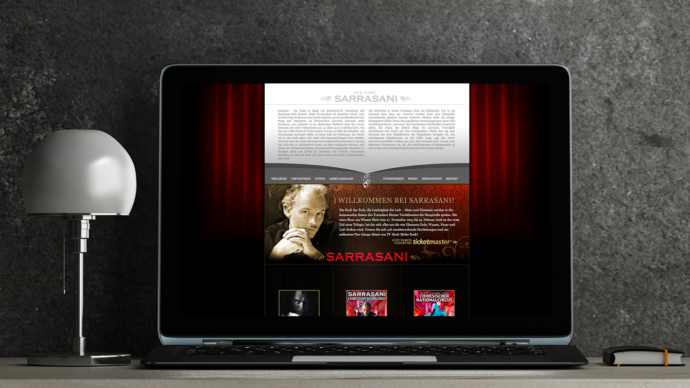 Sarrasani Website Header Effekt